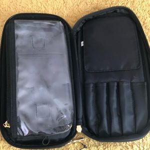 Triple Compartment makeup palette and holder